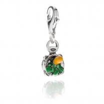 Pesto and Pestle Charm in Sterling Silver and Enamel