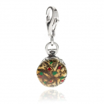 Panettone Charm in Sterling Silver and Enamel