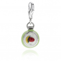 Sicilian Cassata Charm in Sterling Silver and Enamel