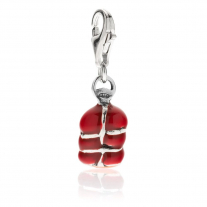 'Nduja Sausage Charm in Sterling Silver and Enamel