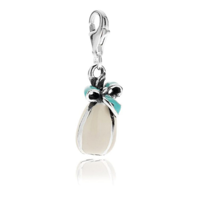 Easter Egg Charm in Sterling Silver & Enamel
