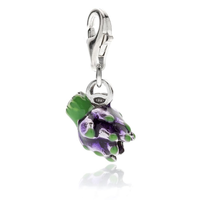 Artichoke Charm in Sterling Silver and Enamel