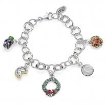 Latium Luxus Armband in Silber und Emaille