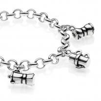 Silbernes Moka Premium Armband