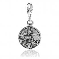 Genua Lantern Charm in Silber