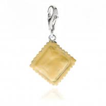 Charm Raviolo Frische Pasta in Silber und Emaille