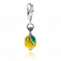 Charm Lemon Gelb in Silber und Emaille