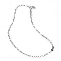 Basis Halskette in Silberlicht 45 cm