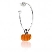 Mono Pumpkin Ohrring in Silber und Emaille