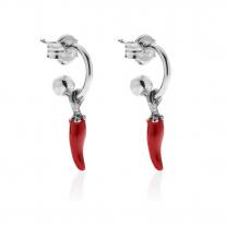 Mono Artischocken Ohrring in Silber und Emaille