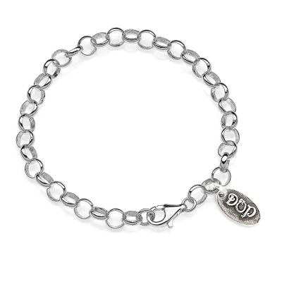 Basis Armband in hellem Silber