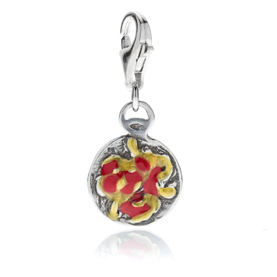 Bucatini Amatriciana Charm in Silber und Emaille