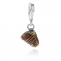 Neapolitan Sfogliatella Charm in Sterling Silver and Enamel