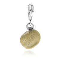 Orecchietta Pasta Charm in Sterling Silver and Enamel