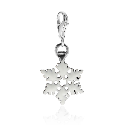 SnowFlake Charm in Sterling Silver and Enamel